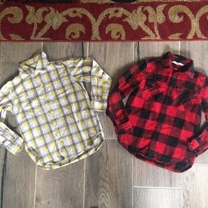 Boys size small button down shirts